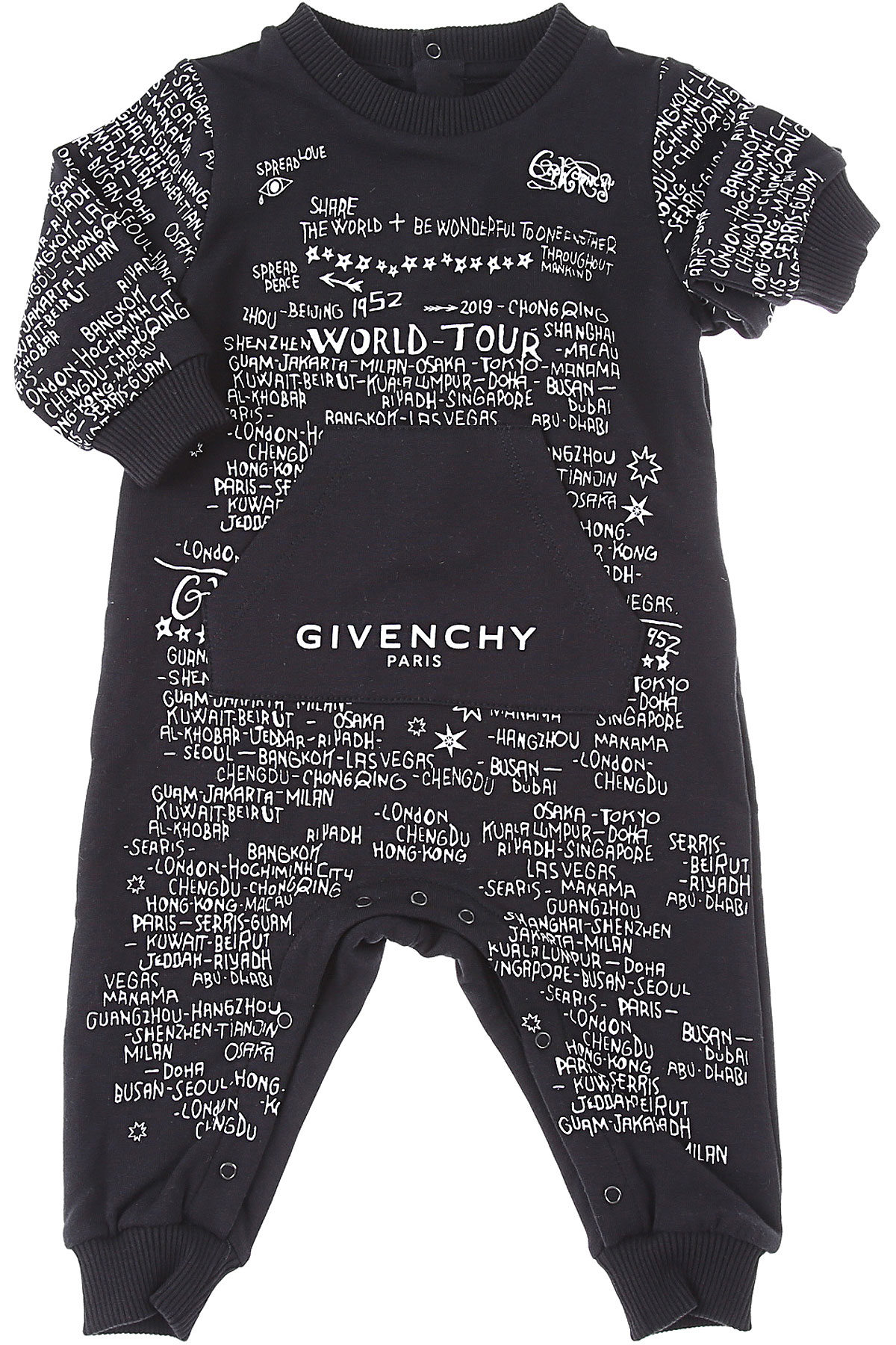 Givenchy Baby Bodysuits & Onesies for Boys On Sale, Black, Cotton, 2019, 1M 3Y 6M