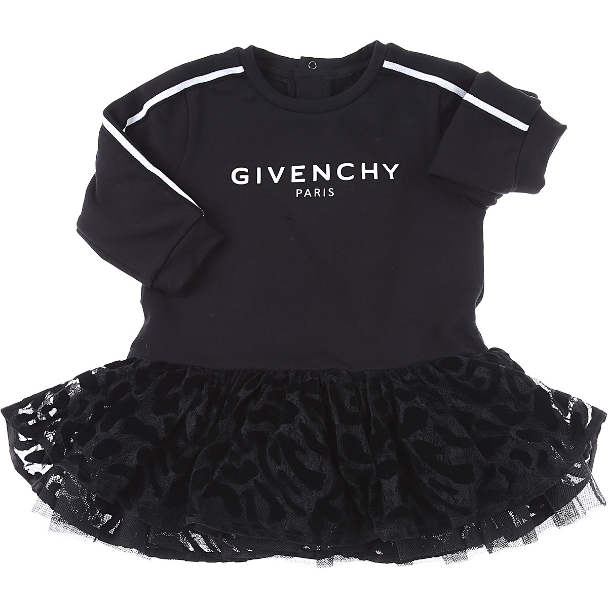 Givenchy Baby Dress for Girls On Sale, Black, Cotton, 2019, 12M 18M 2Y 9M