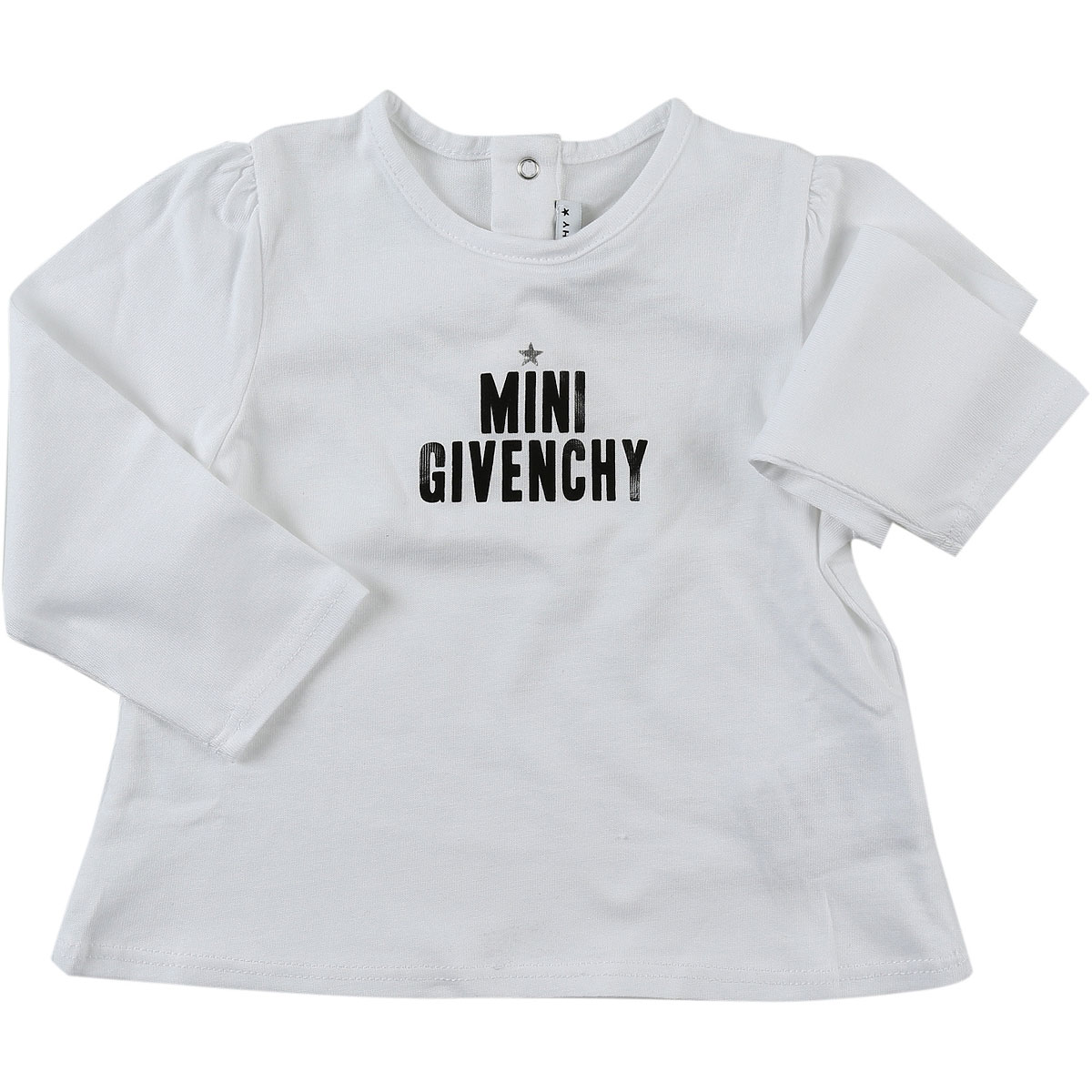 Image of Givenchy Baby T-Shirt for Girls, White, Cotton, 2017, 12M 18M 2Y 3Y 6M 9M