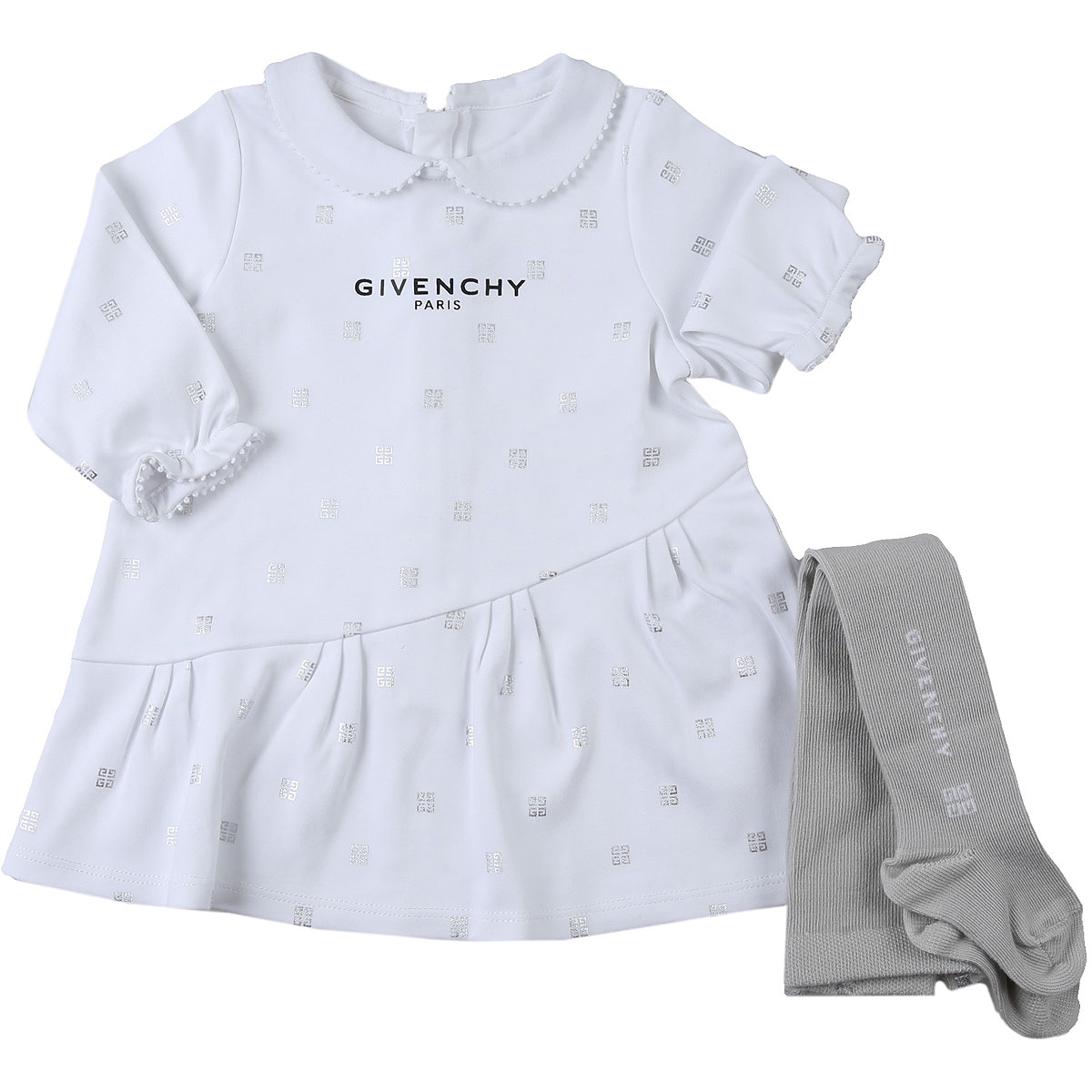 Givenchy Baby Sets for Girls On Sale, White, Cotton, 2019, 12M 3M 6M 9M