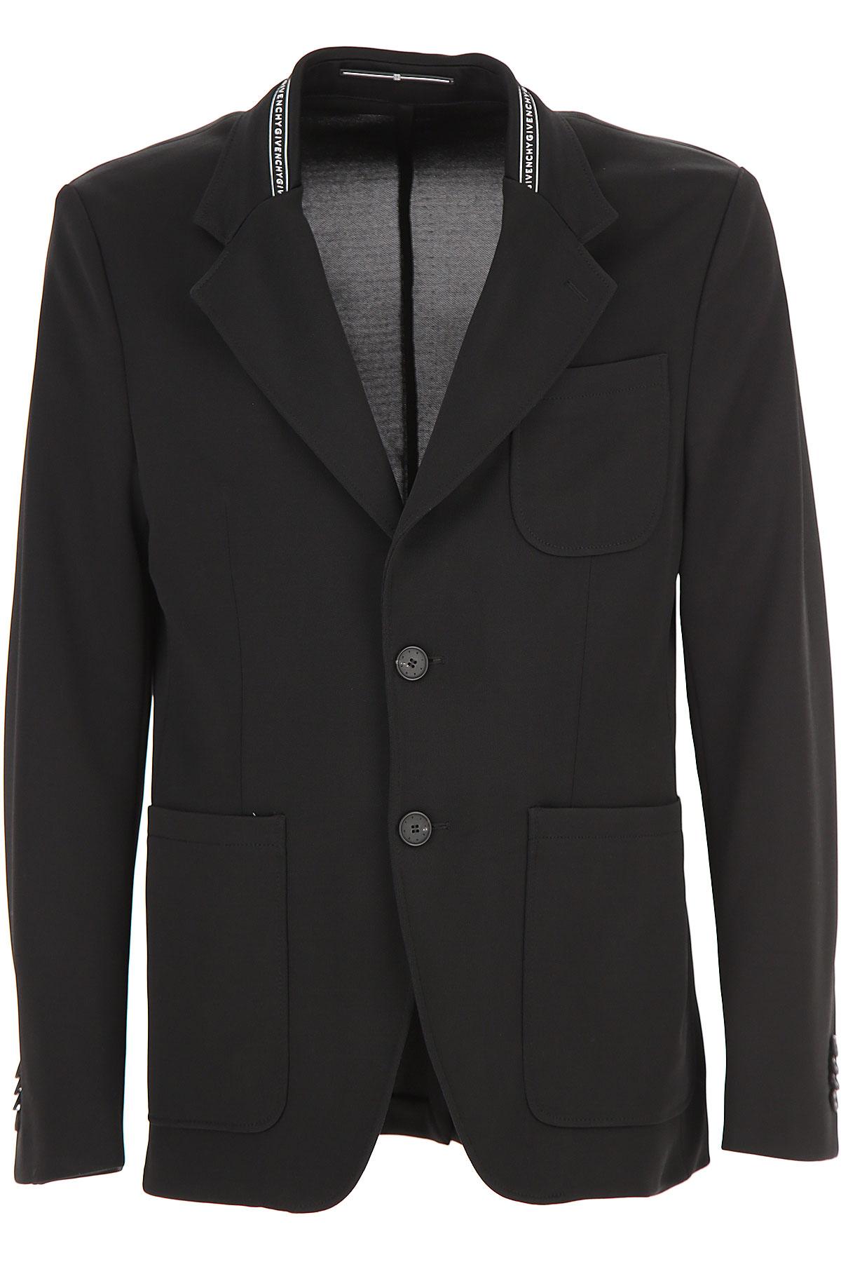 Givenchy Blazer for Men, Sport Coat, Black, Viscose, 2019, L M XL
