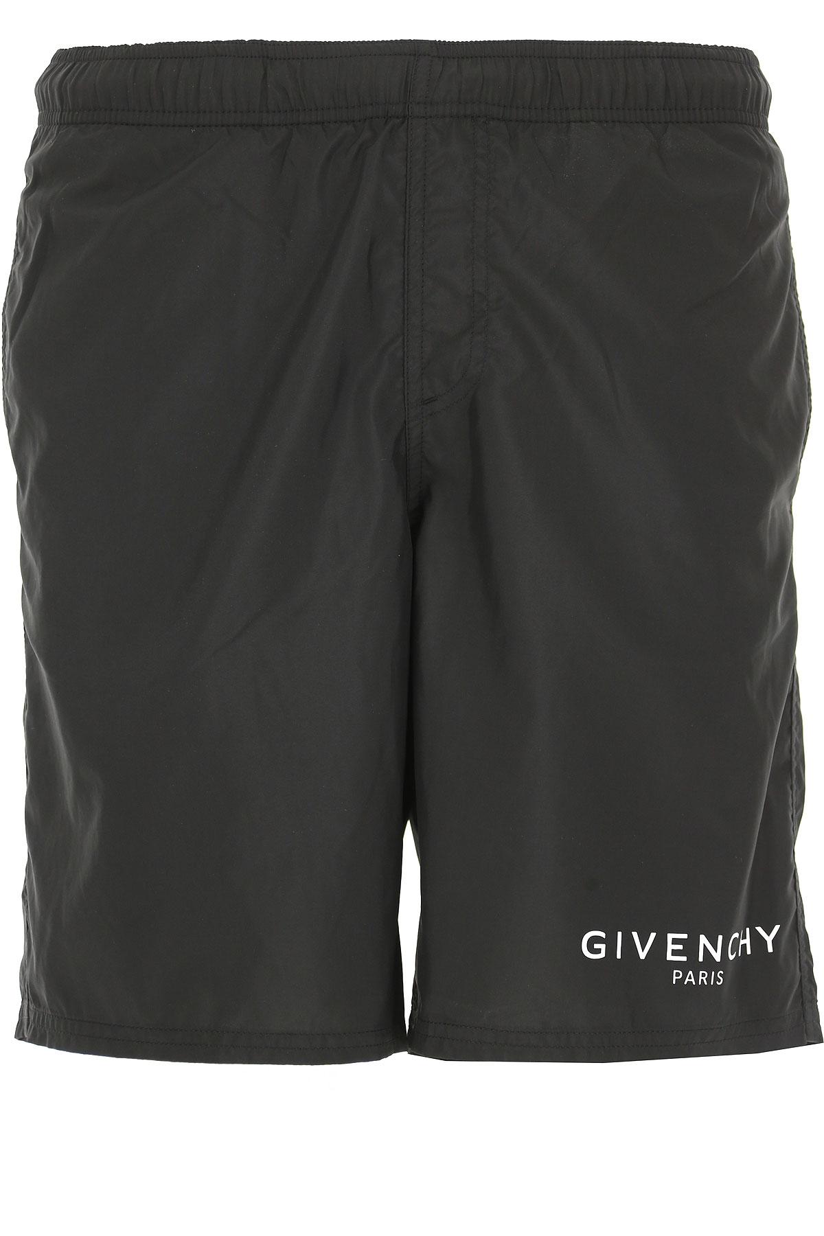 Givenchy Short de Bain Homme, Noir, Polyester, 2017, 46 48 50 52