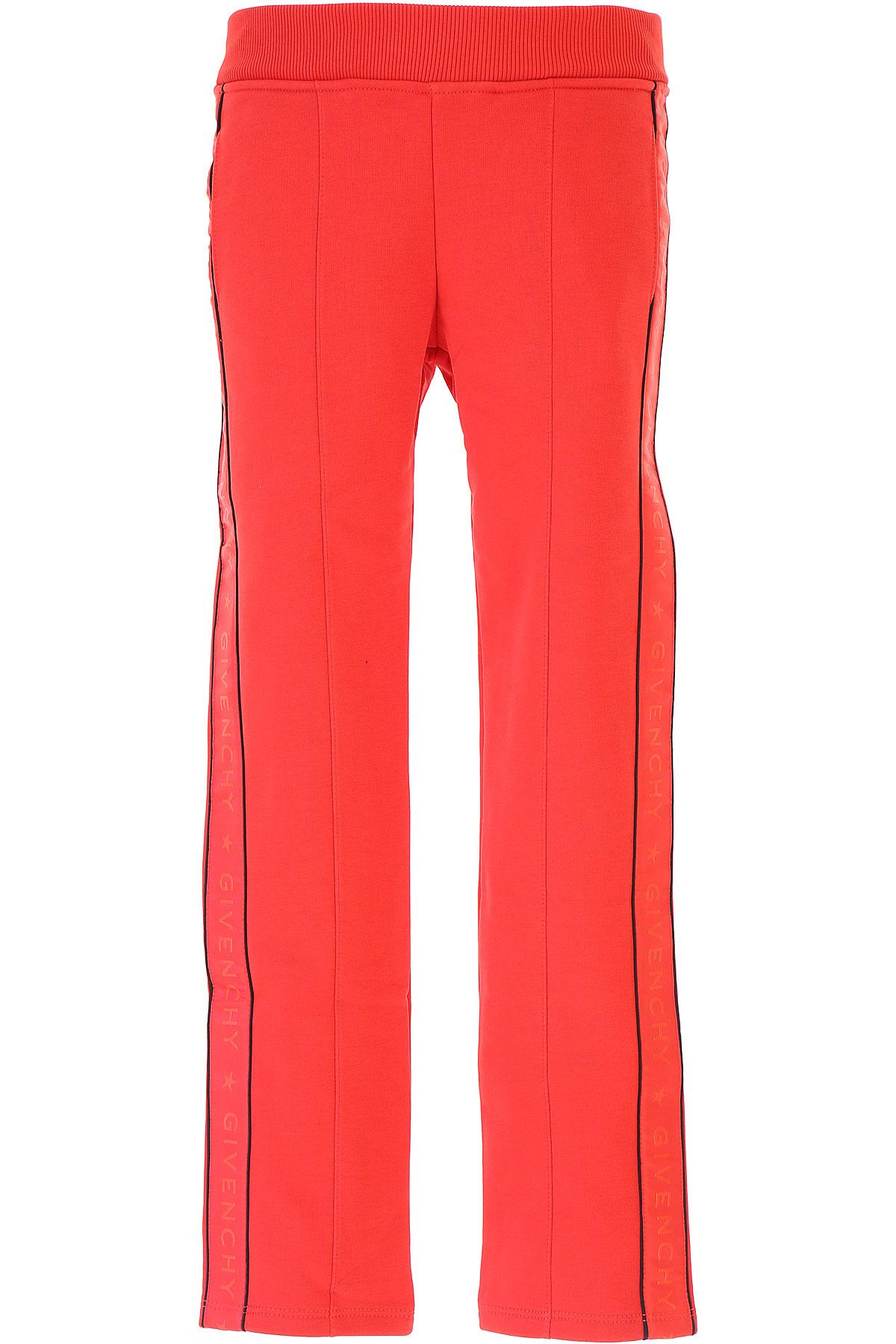 Image of Givenchy Kids Sweatpants for Girls, Red, Cotton, 2017, 10Y 10Y 4Y 5Y 6Y 8Y 8Y