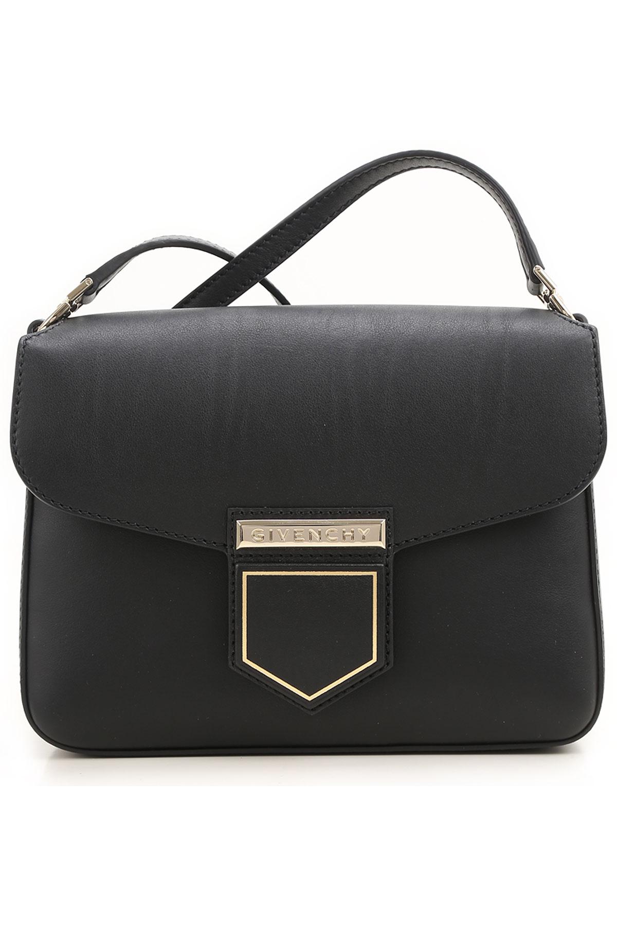 Givenchy Shoulder Bag for Women, Nobile  Small Bag, Black, Leather, 2017