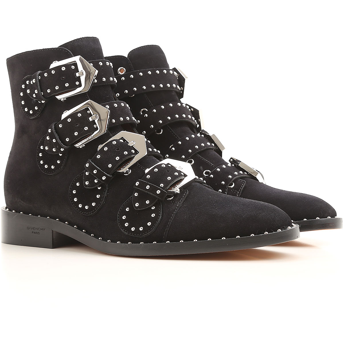 Givenchy Boots for Women, Booties On Sale in Outlet, Black, Suede leather, 2019, 10 5 8.5