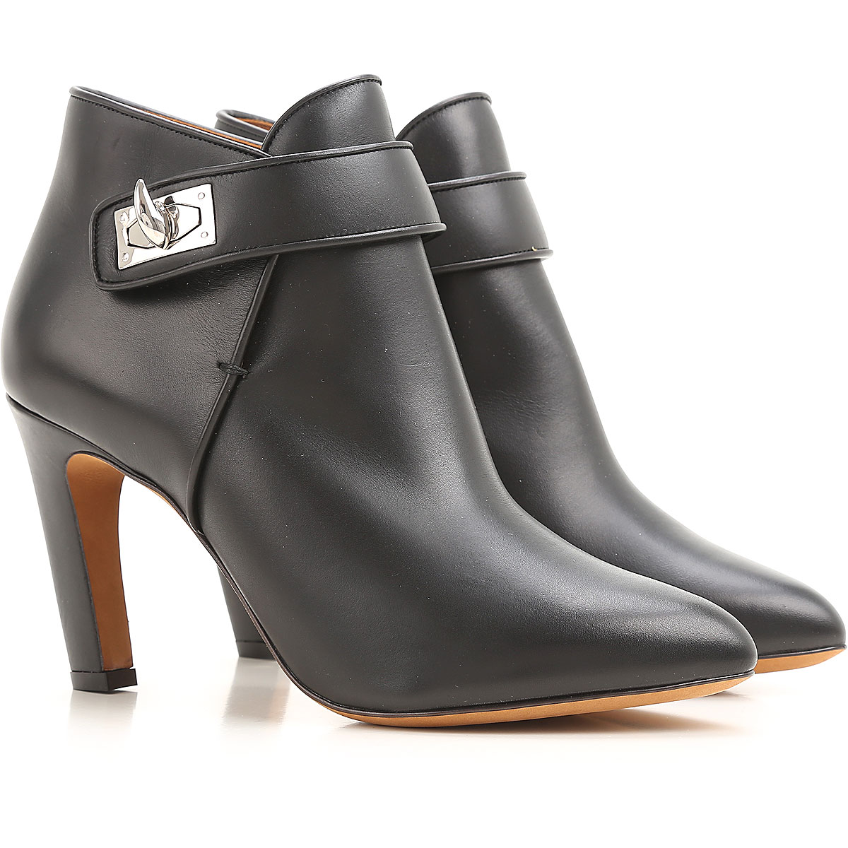 Givenchy Boots for Women, Booties On Sale in Outlet, Black, Leather, 2019, 5 6