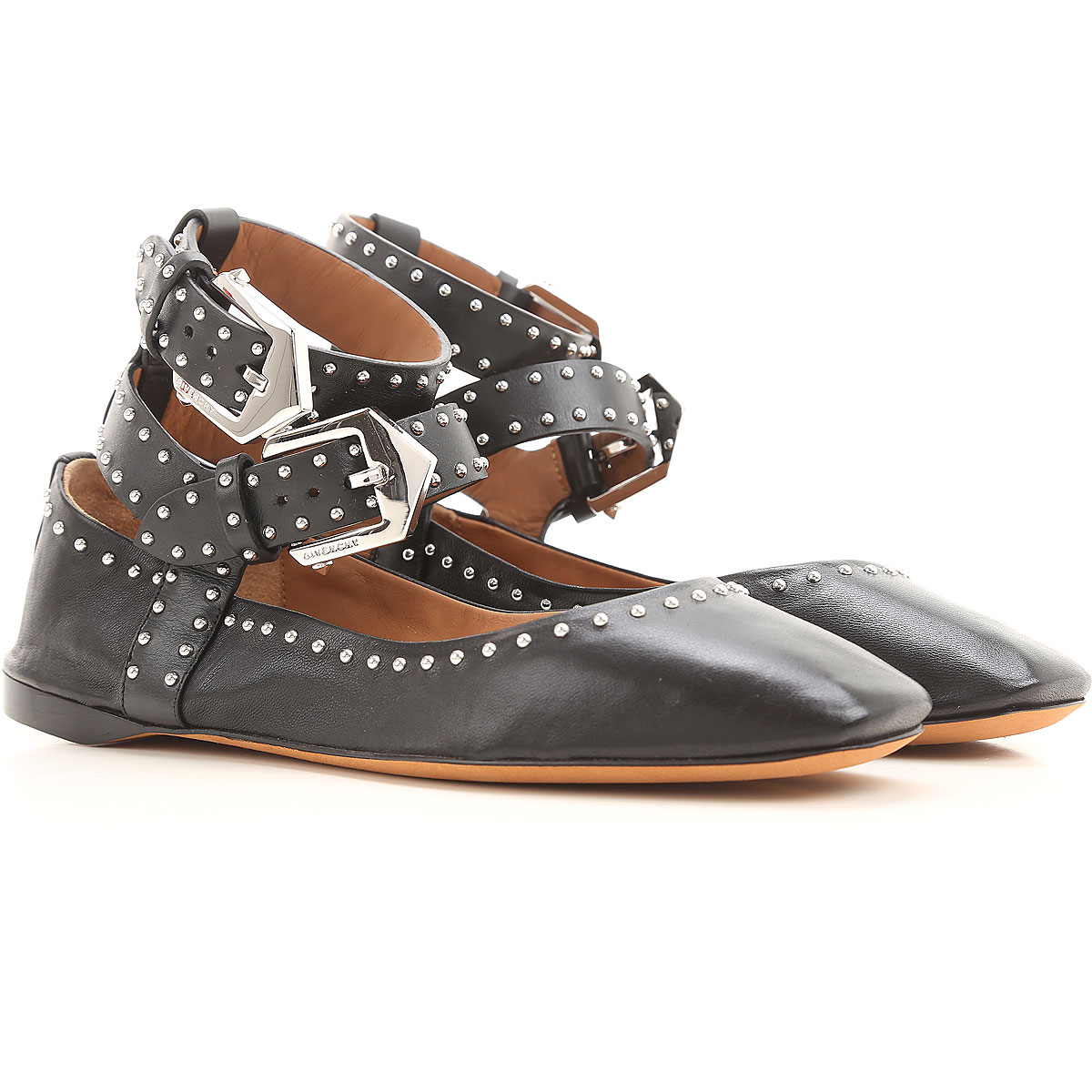 Givenchy Ballet Flats Ballerina Shoes for Women On Sale in Outlet, Black, Leather, 2019, 5 5.5 6 6.5