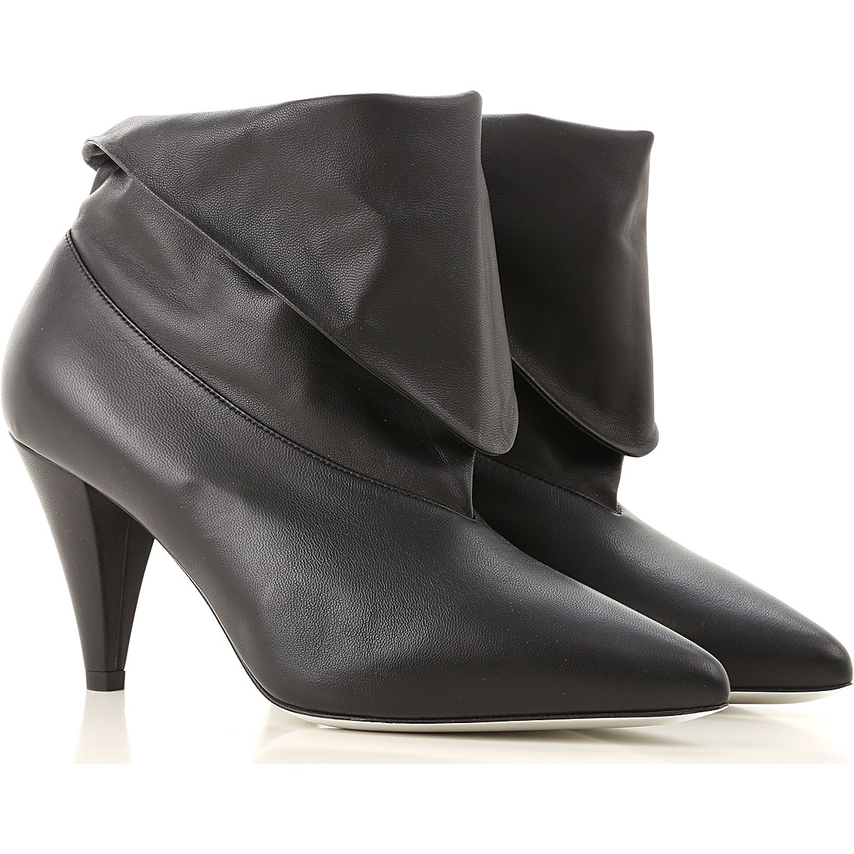 Givenchy Boots for Women, Booties On Sale in Outlet, Black, Leather, 2019, 7 8