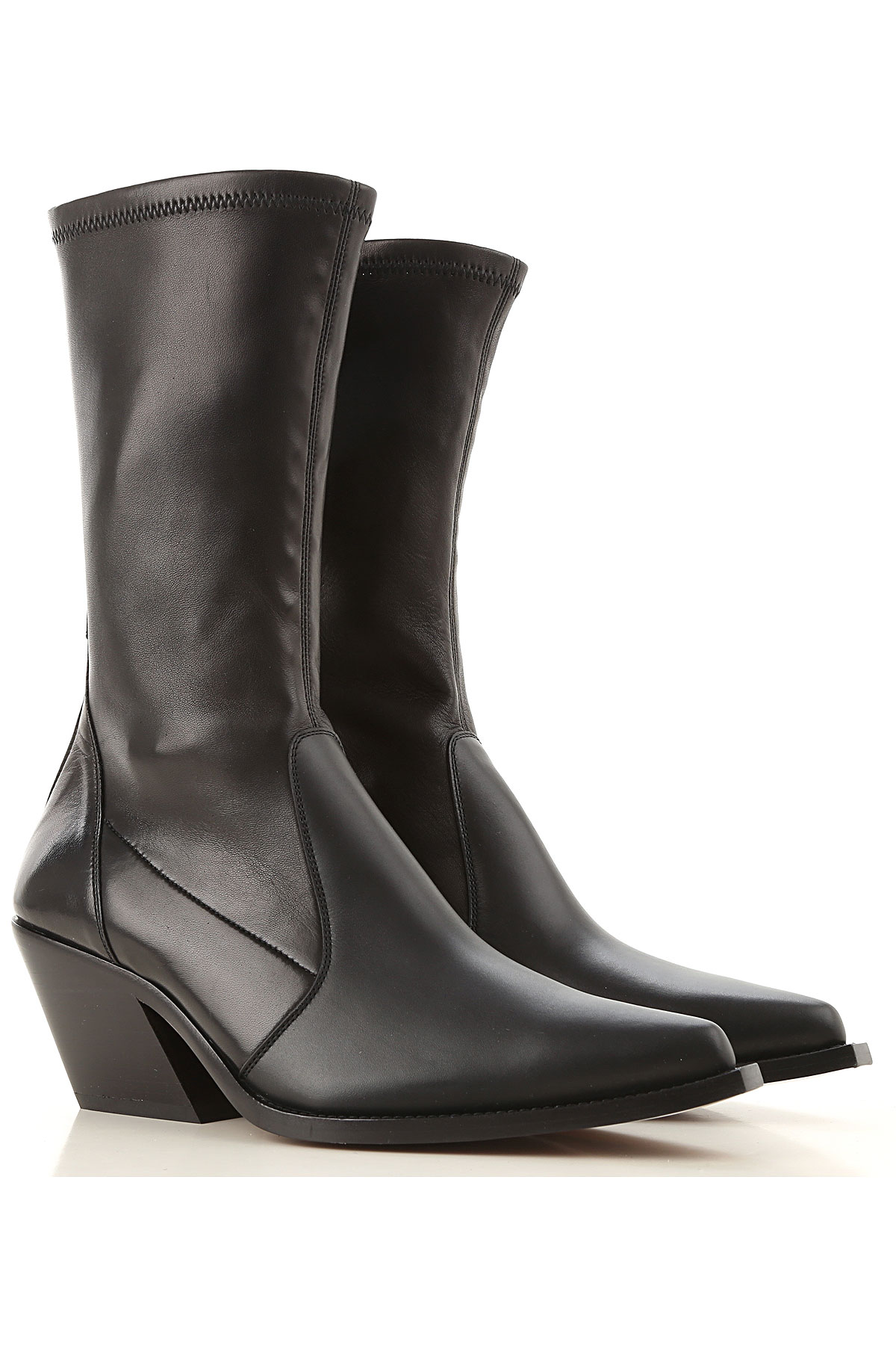 Givenchy Boots for Women, Booties On Sale in Outlet, Black, Leather, 2019, 10 7 8