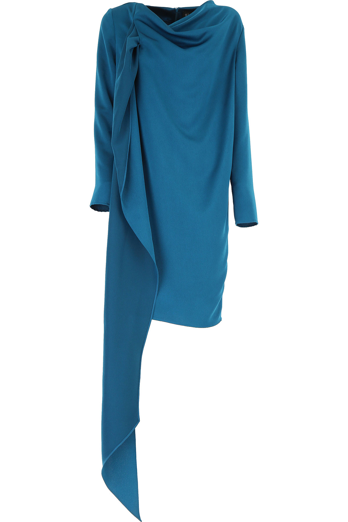 Gianluca Capannolo Dress for Women, Evening Cocktail Party On Sale, Petrol, polyester, 2019, 10 6 8