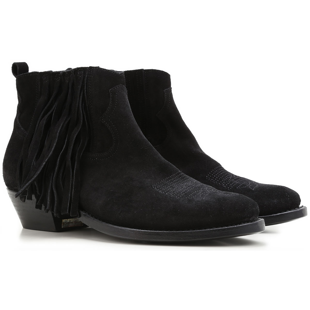 Golden Goose Boots for Women, Booties On Sale in Outlet, Black, suede, 2019, 7 8