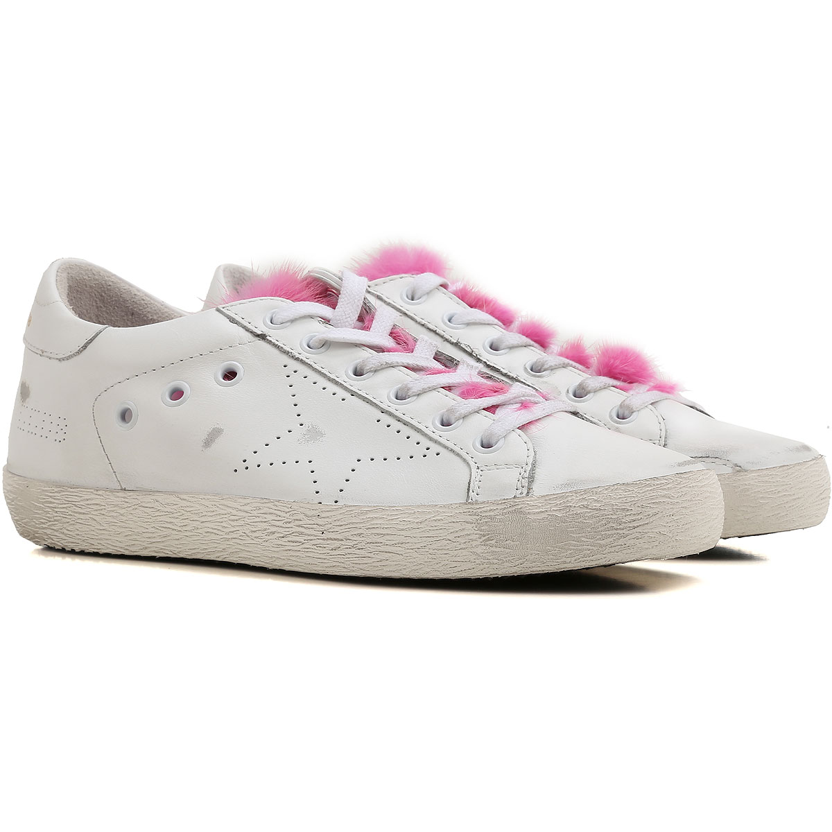 Golden Goose Sneakers for Women On Sale, fuxia, Leather, 2019, 5 6 7 8