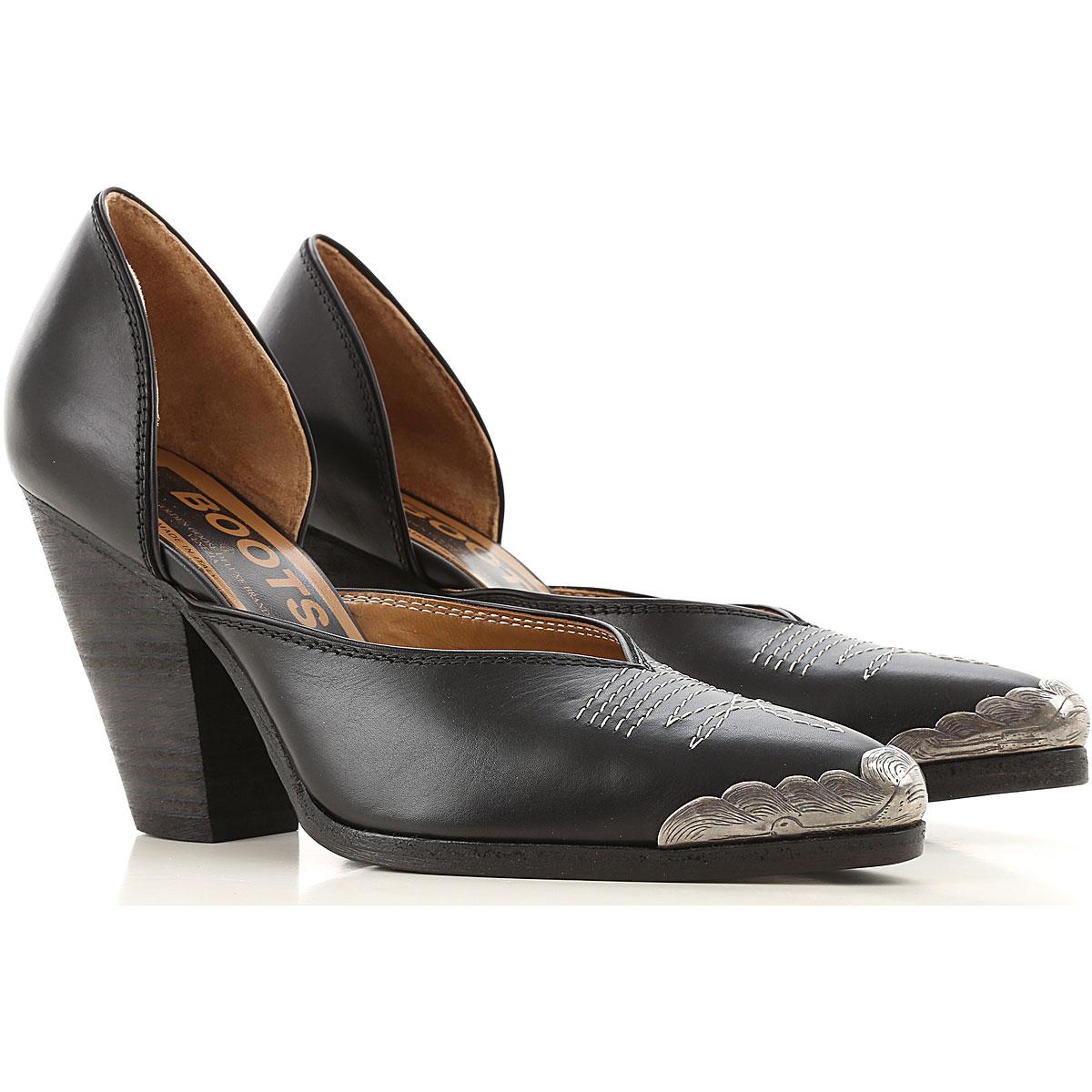 Golden Goose Sandals Heeled Womens On Sale, Black, Leather, 2019, 6 7 9
