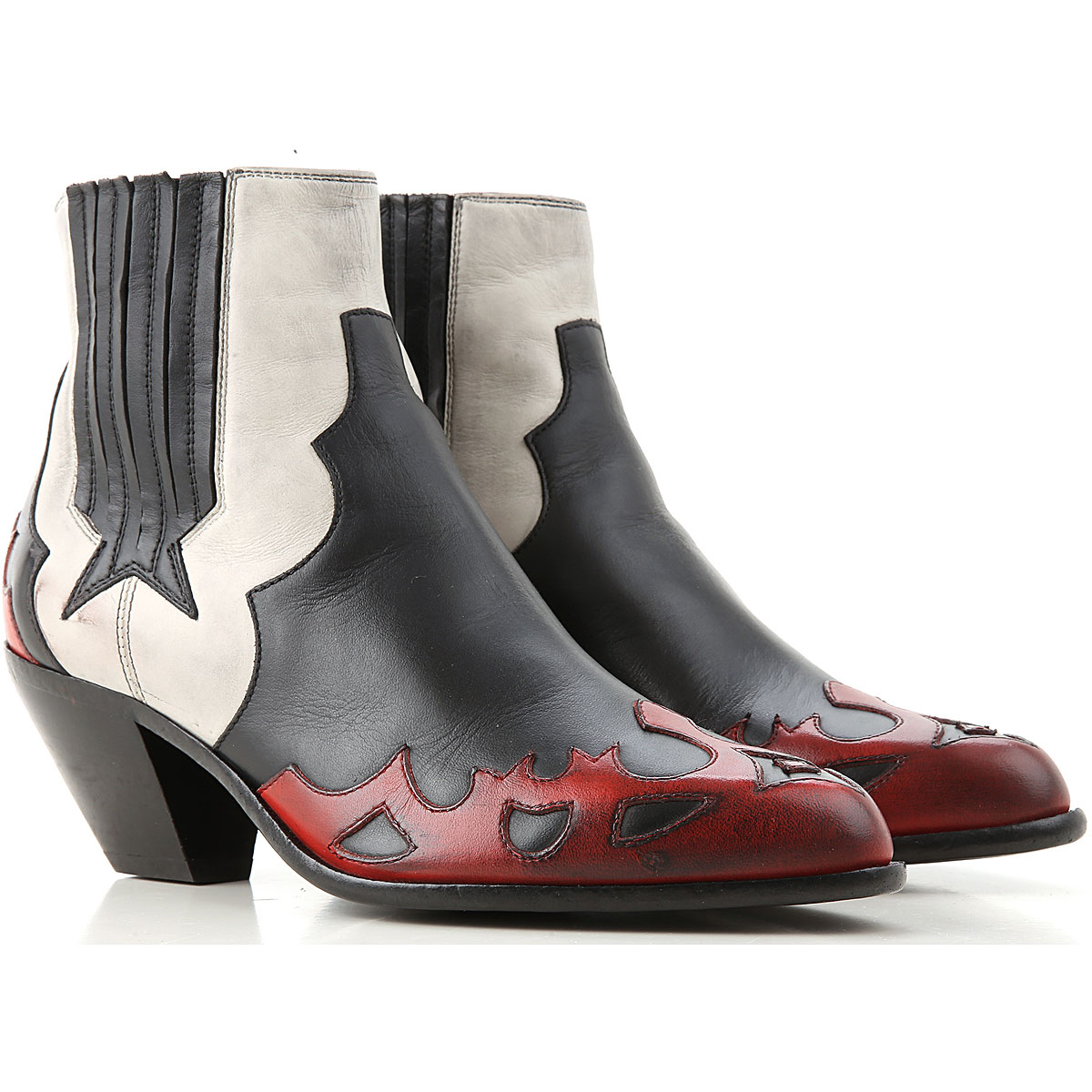 Golden Goose Boots for Women, Booties On Sale, Black, Leather, 2019, 10 6 7 8 9