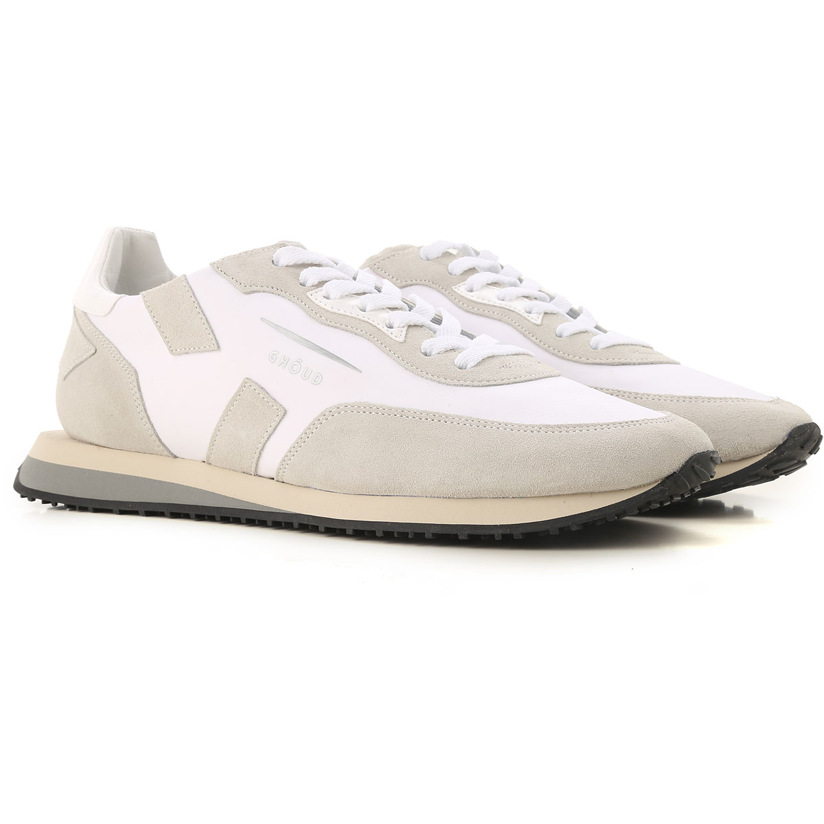 Ghoud Sneakers for Men On Sale, White, Suede leather, 2019, 10 8 9