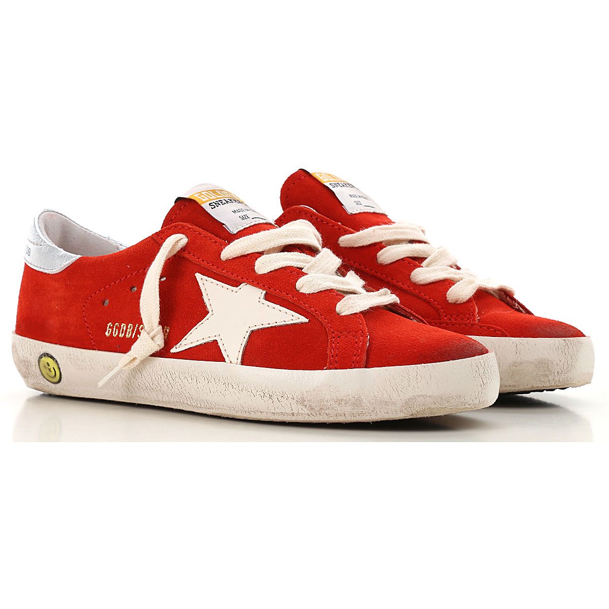 Image of Golden Goose Sneakers, Red, Suede leather, 2017, 29 30 31 32 33 34 35
