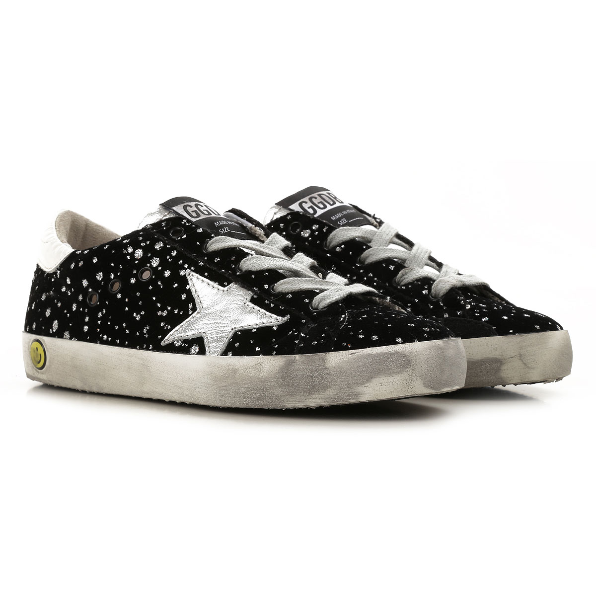 Image of Golden Goose Sneakers, Black, Suede leather, 2017, 32 33