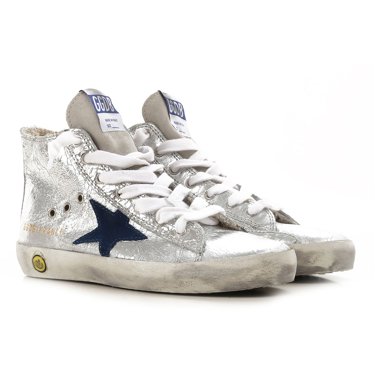 Image of Golden Goose Sneakers, Silver, Leather, 2017, 31 32 34