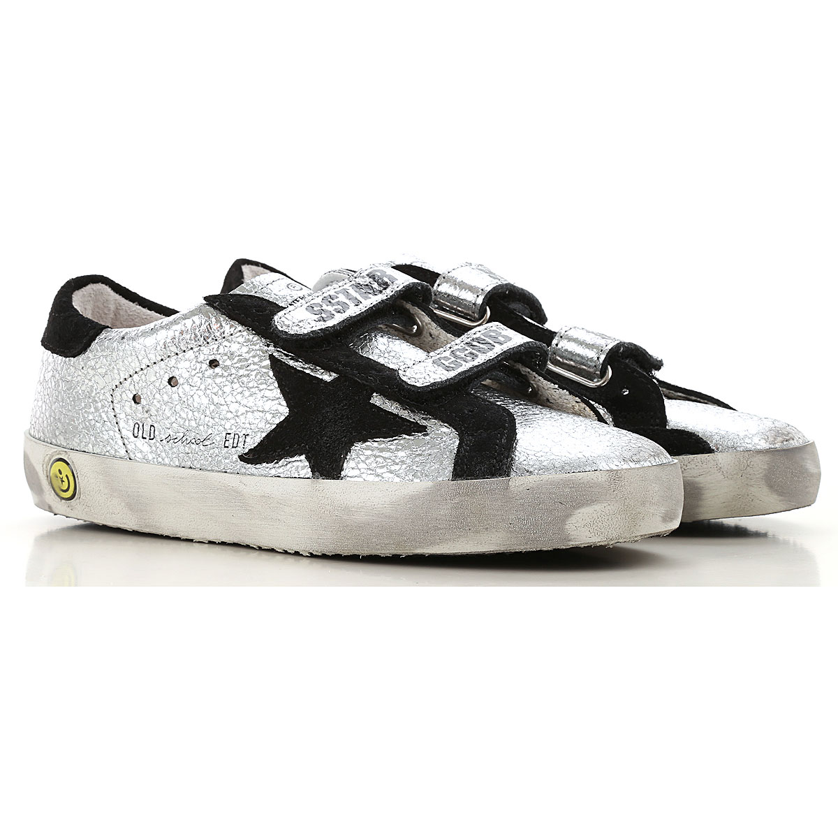 Image of Golden Goose Sneakers, Silver, Leather, 2017, 30 32 33 34 35