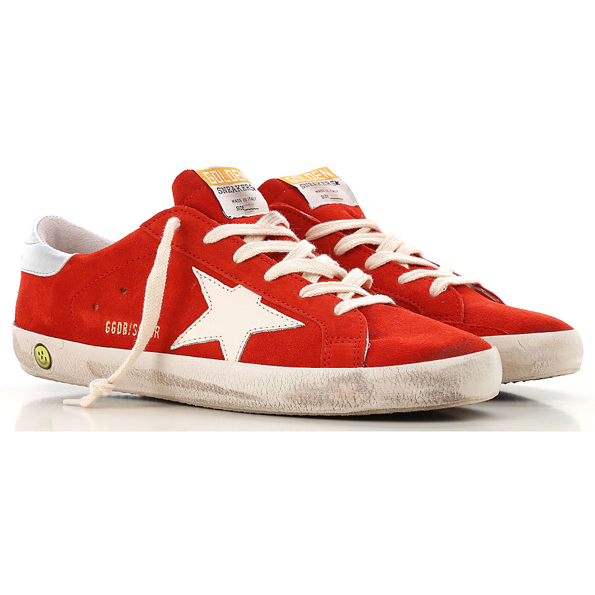 Image of Golden Goose Sneakers, Red, Suede leather, 2017, 36 37 38