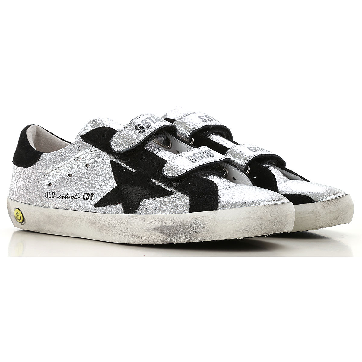 Image of Golden Goose Sneakers, Silver, Leather, 2017, 36 37 38