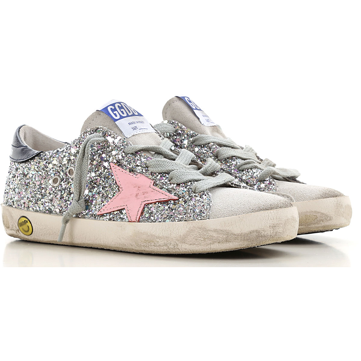 Golden Goose Kids Shoes for Girls On Sale, Silver, suede, 2019, 24 26 27 28 29 32
