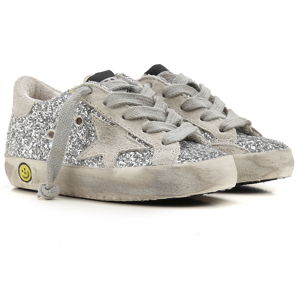 Image of Golden Goose Sneakers, Silver, Leather, 2017, 24 25 26 27