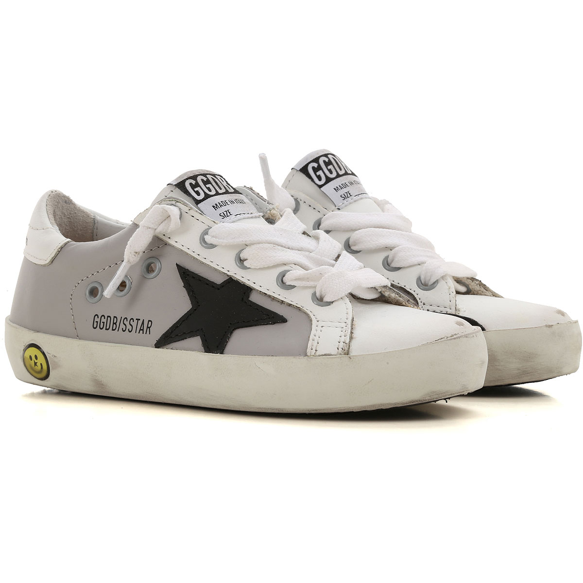 Image of Golden Goose Sneakers, Grey, Calf Leather, 2017, 24 25 26 27 28 29 30 31 32 33 34 35
