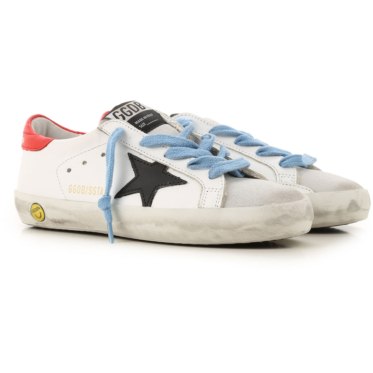 Golden Goose Kids Shoes for Boys On Sale, White, Leather, 2019, 24 26 27 28 29 30 31 32 33