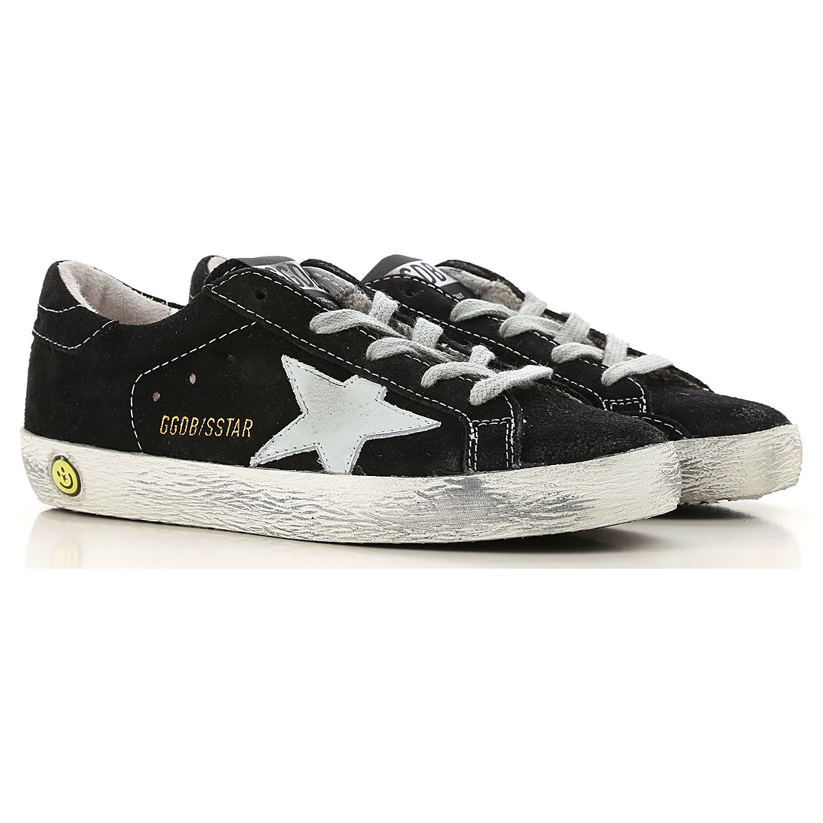 Image of Golden Goose Sneakers, Black, Suede leather, 2017, 28 30 31 32