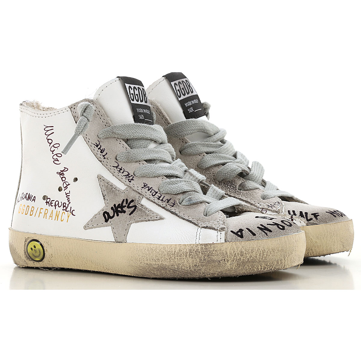 Image of Golden Goose Sneakers, White, Leather, 2017, 24 25 26 27 28 29 30 31 32 33 34 35