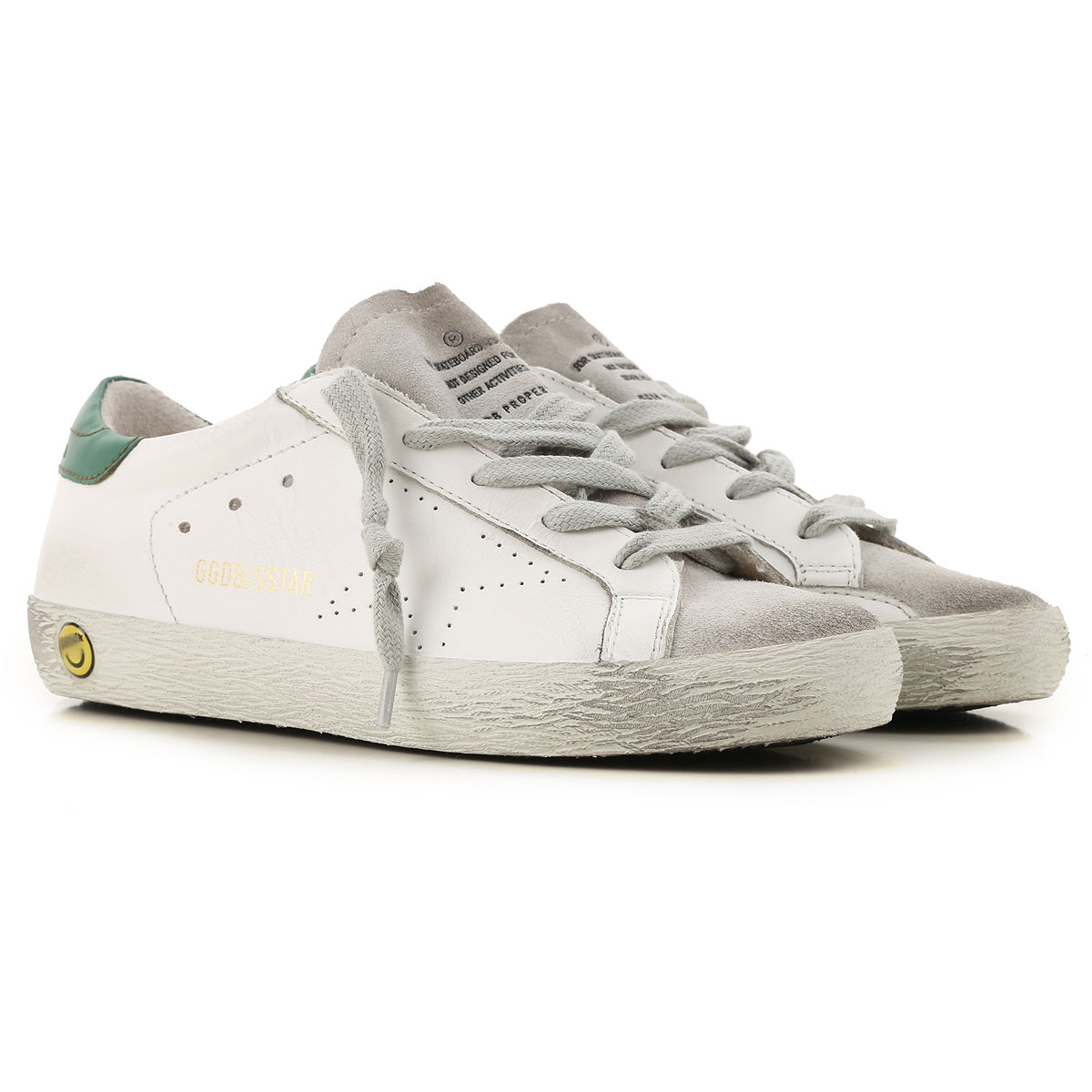 Golden Goose Kids Shoes for Boys On Sale in Outlet, White, Leather, 2019, 30 32