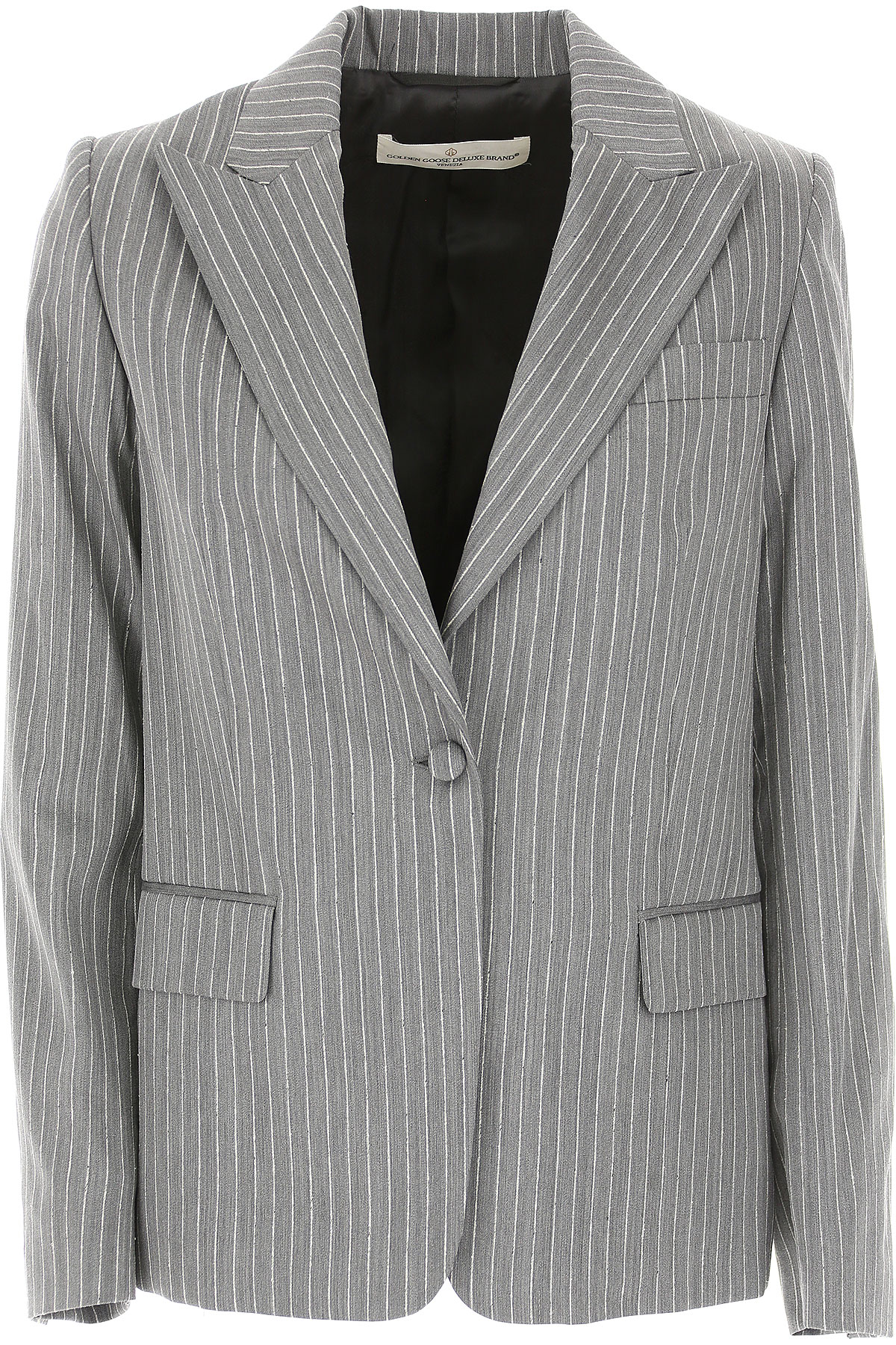 Image of Golden Goose Blazer for Women, Grey, fleece wool, 2017, 2 4