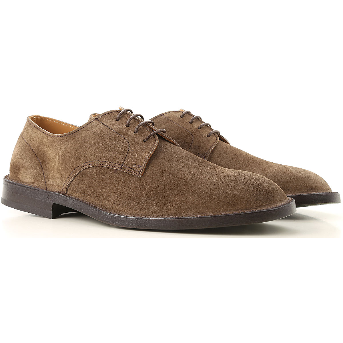 Green George Lace Up Shoes for Men Oxfords, Derbies and Brogues On Sale in Outlet, Mole, Suede leather, 2019, 11 9