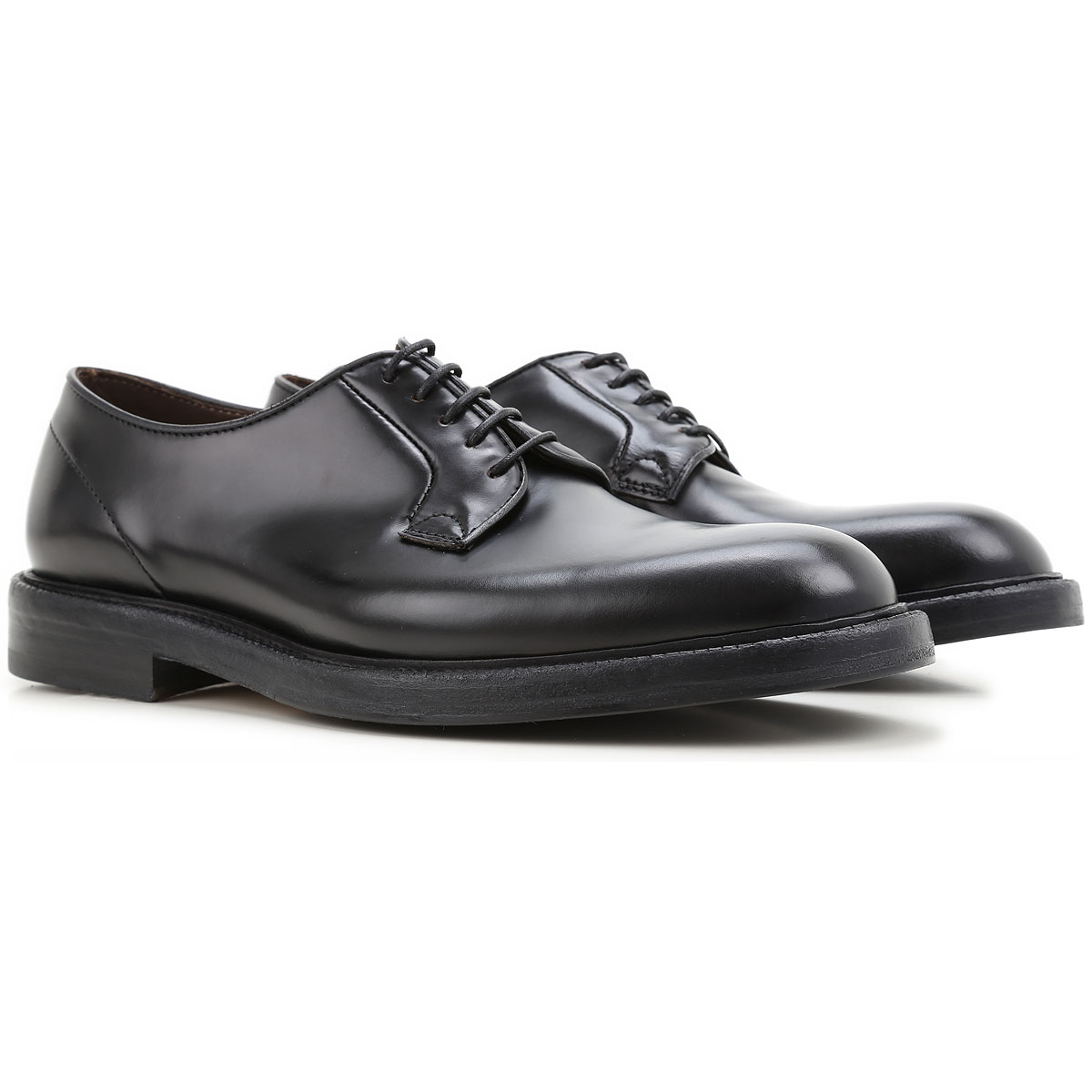 Image of Green George Brogue Shoes, Black, Leather, 2017, 10 11 8 8.5