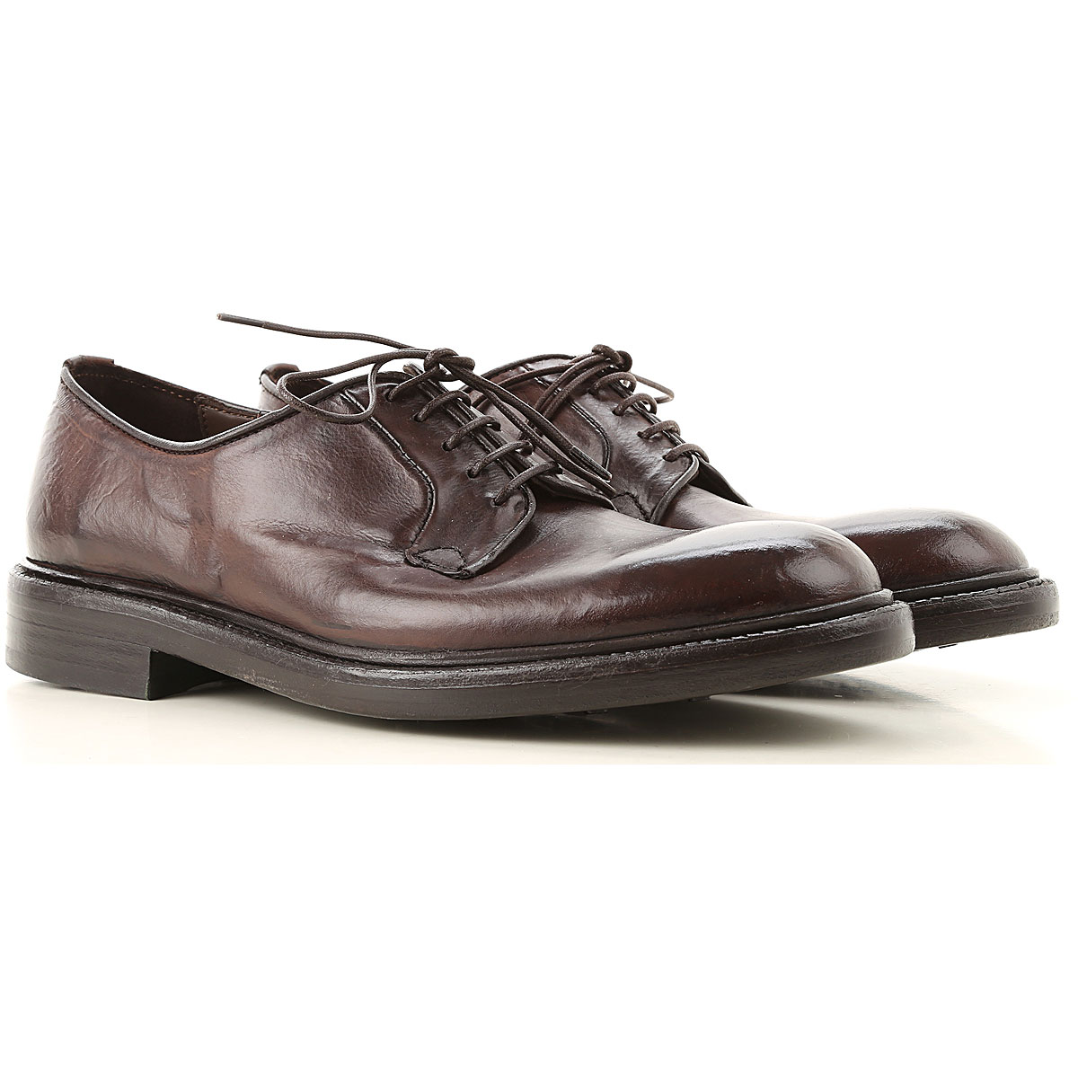 Green George Lace Up Shoes for Men Oxfords, Derbies and Brogues On Sale, Dark Chocolate Brown, Leather, 2019, 10 10.5 12 8 9 9.5