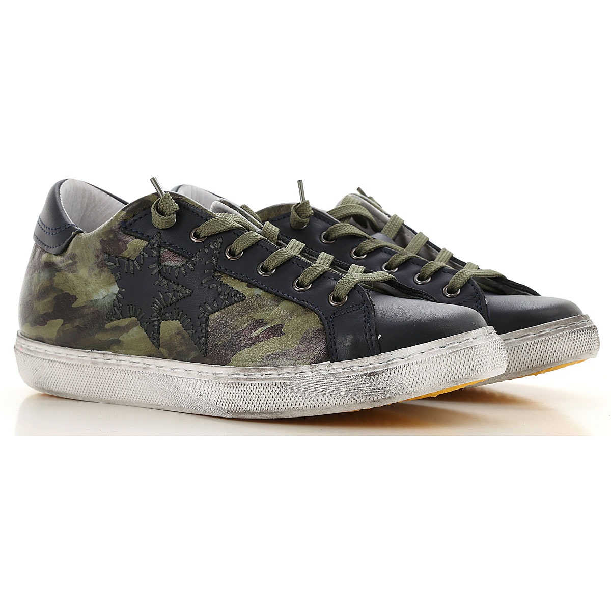 Image of 2Star Kids Shoes for Boys, Dark Green, Leather, 2017, 28 29 30 31 32 33 34 35 36 37