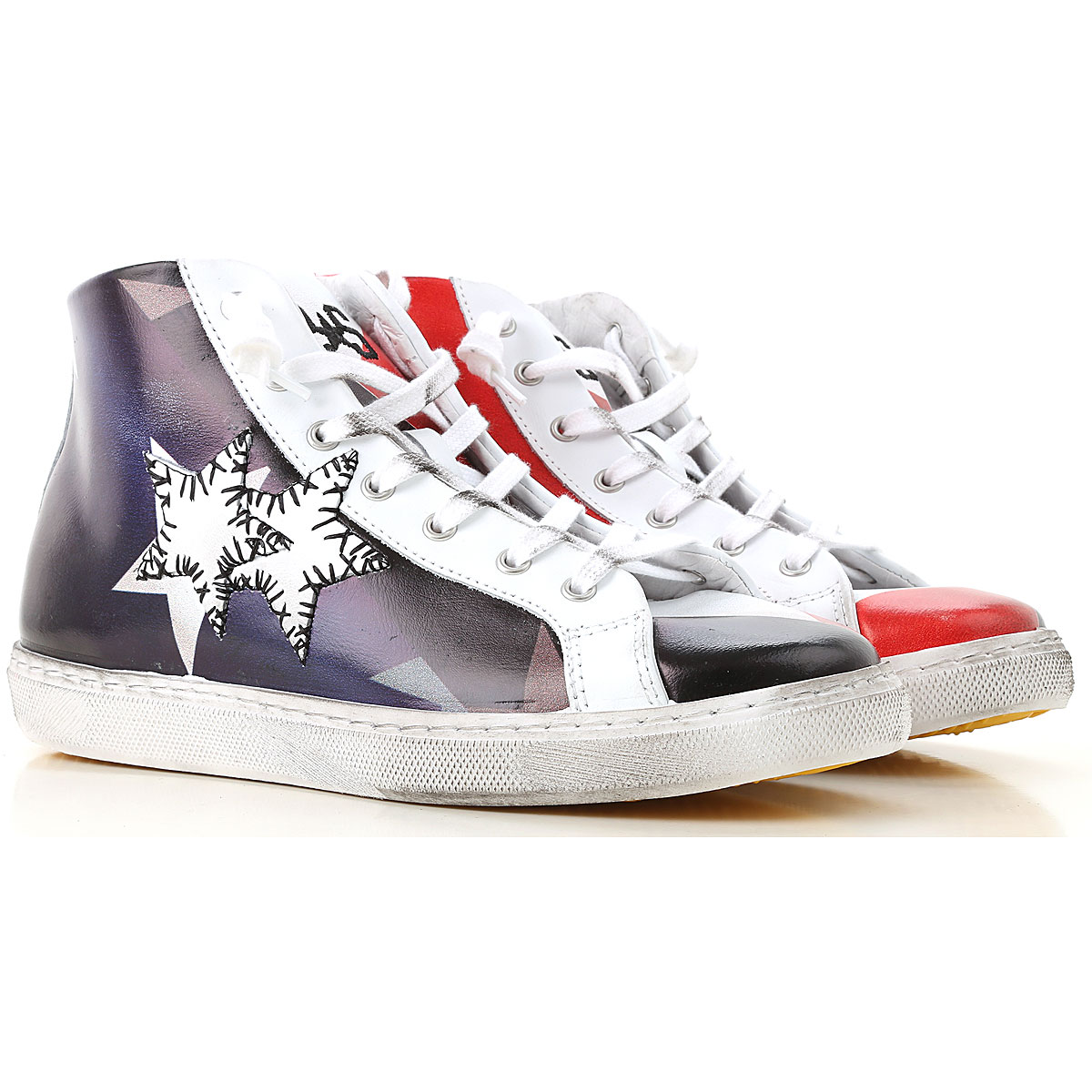 Image of 2Star Kids Shoes for Boys, Red, Leather, 2017, 28 29 30 31 32 33 34 35 36 37