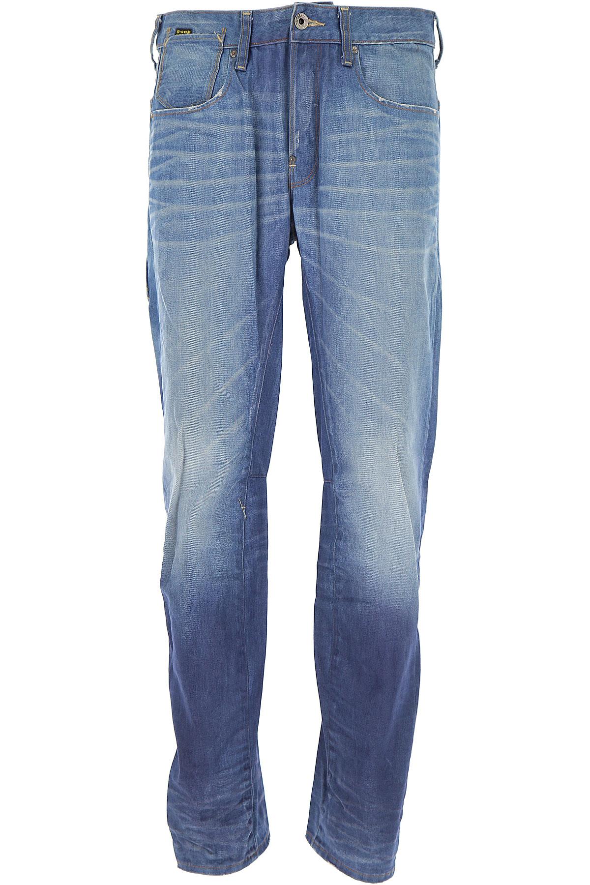 Image of G-Star Jeans On Sale, Denim Light Blue, Cotton, 2017, 31 33