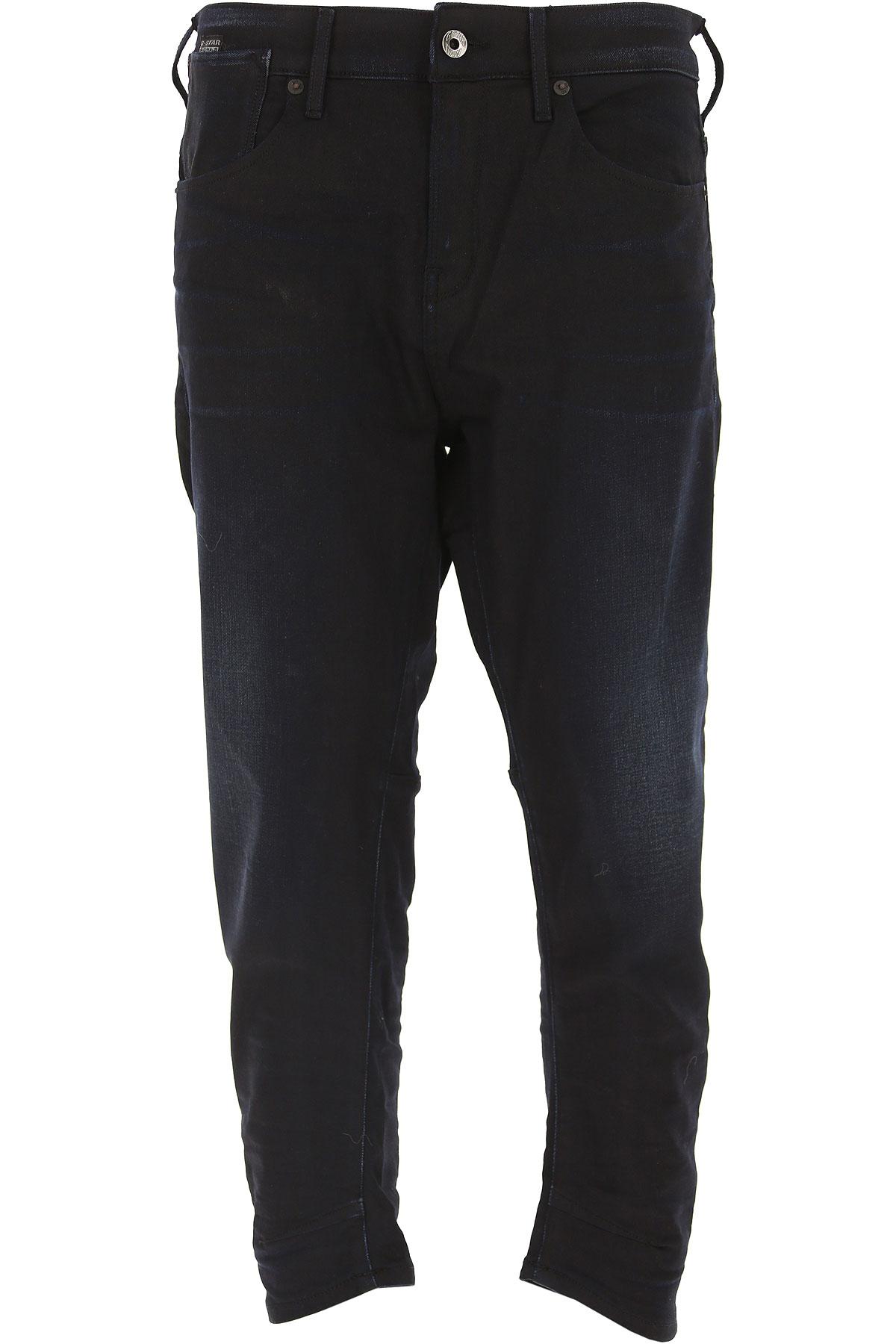 Image of G-Star Jeans On Sale in Outlet, Dark Blue Denim, lyocell, 2017, 27 28 29 30
