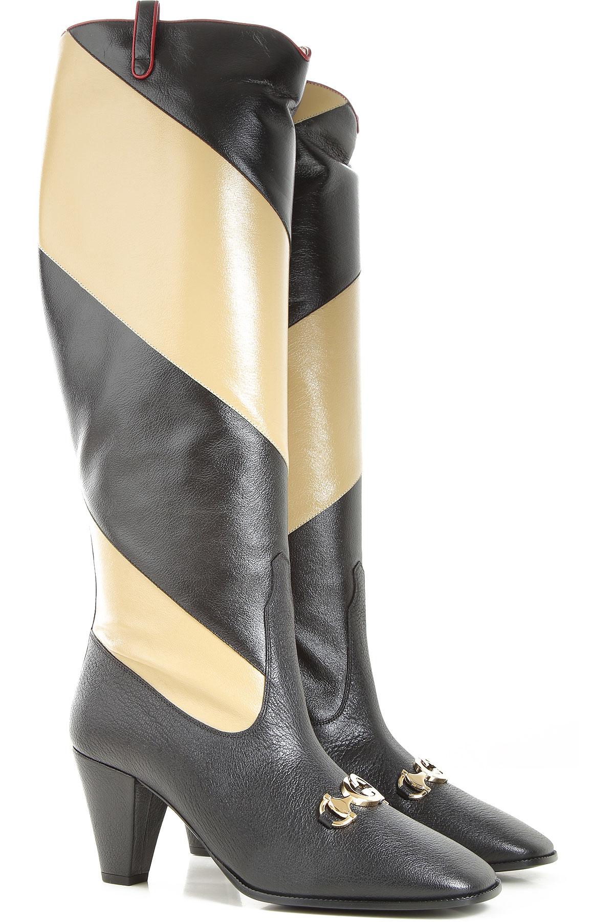 Gucci Boots moterims, Booties, juodi, Textured oda, 2019, 39 40