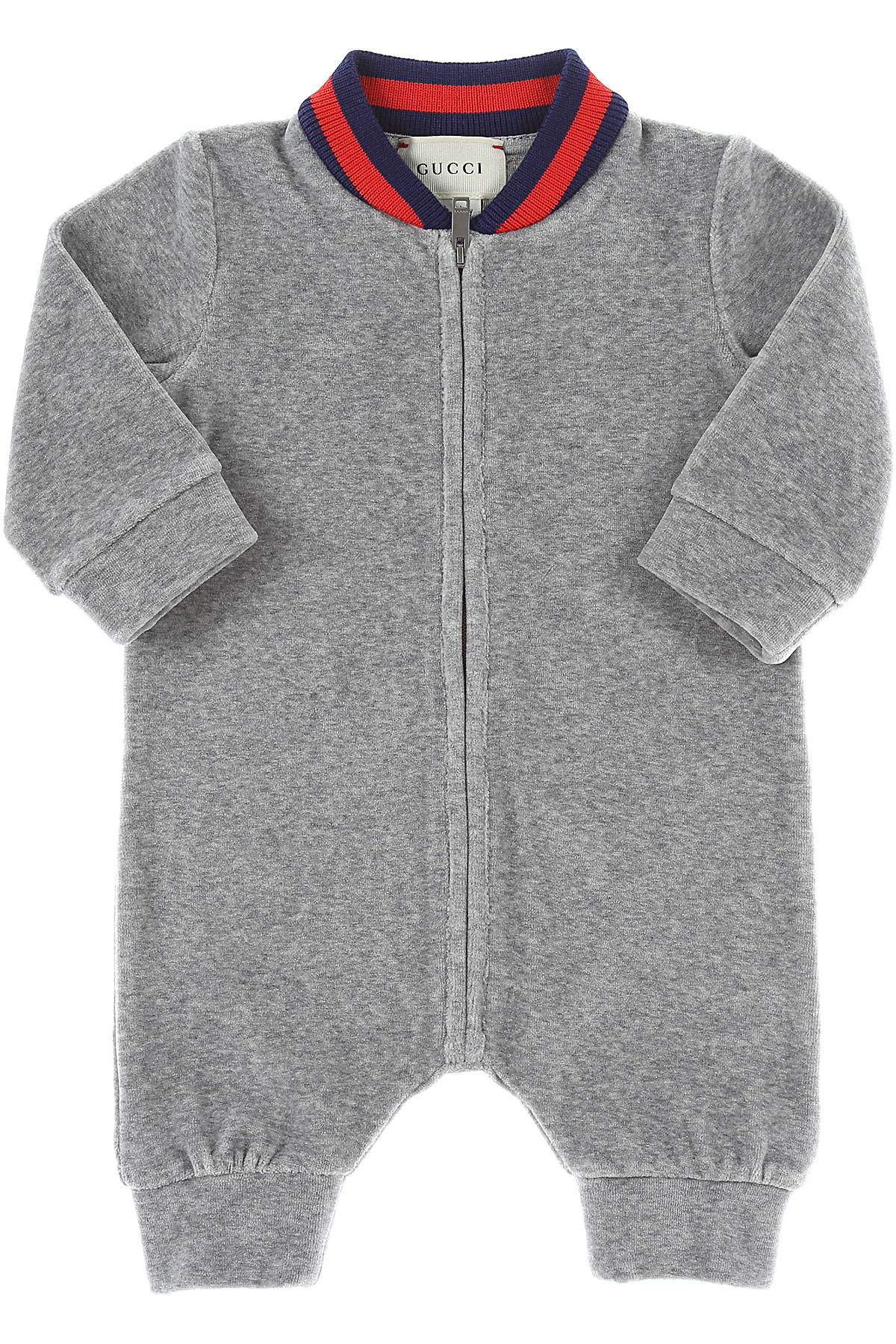 Image of Gucci Baby Bodysuits & Onesies for Boys, Grey, Cotton, 2017, 1M 3M 6M