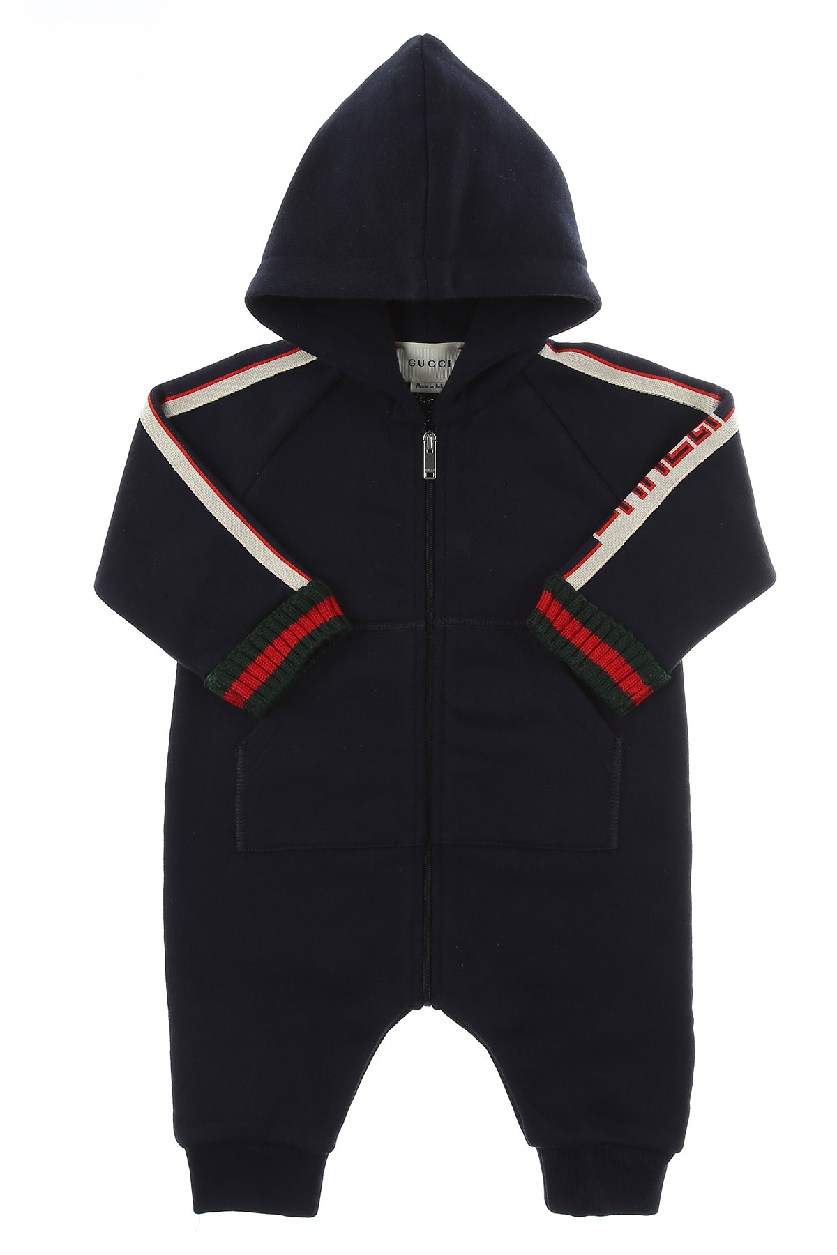 Image of Gucci Baby Bodysuits & Onesies for Boys, Blue, Cotton, 2017, 3M 6M 9M