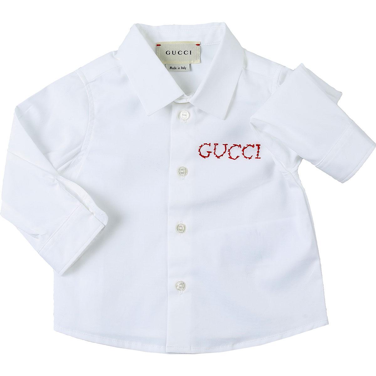 Gucci Chemises Bébé pour Garçon, Blanc, Coton, 2017, 3Y 6M