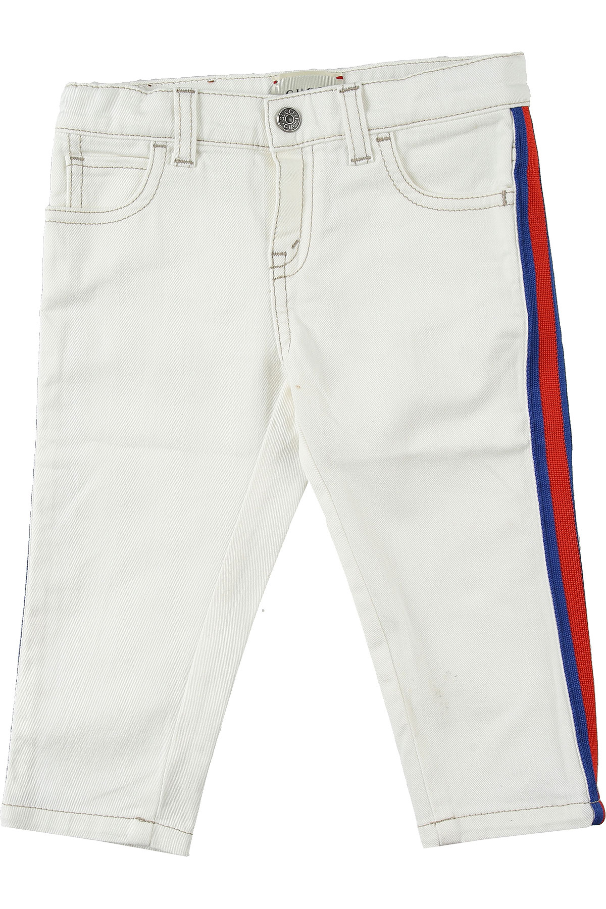 Gucci Baby Jeans for Boys, White, Cotton, 2017, 24M 2Y 3Y 6M 9M