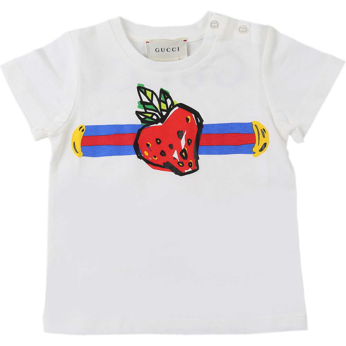 Gucci Baby T-Shirt for Girls On Sale, White, Cotton, 2019, 12M 18M 3Y 6M 9M