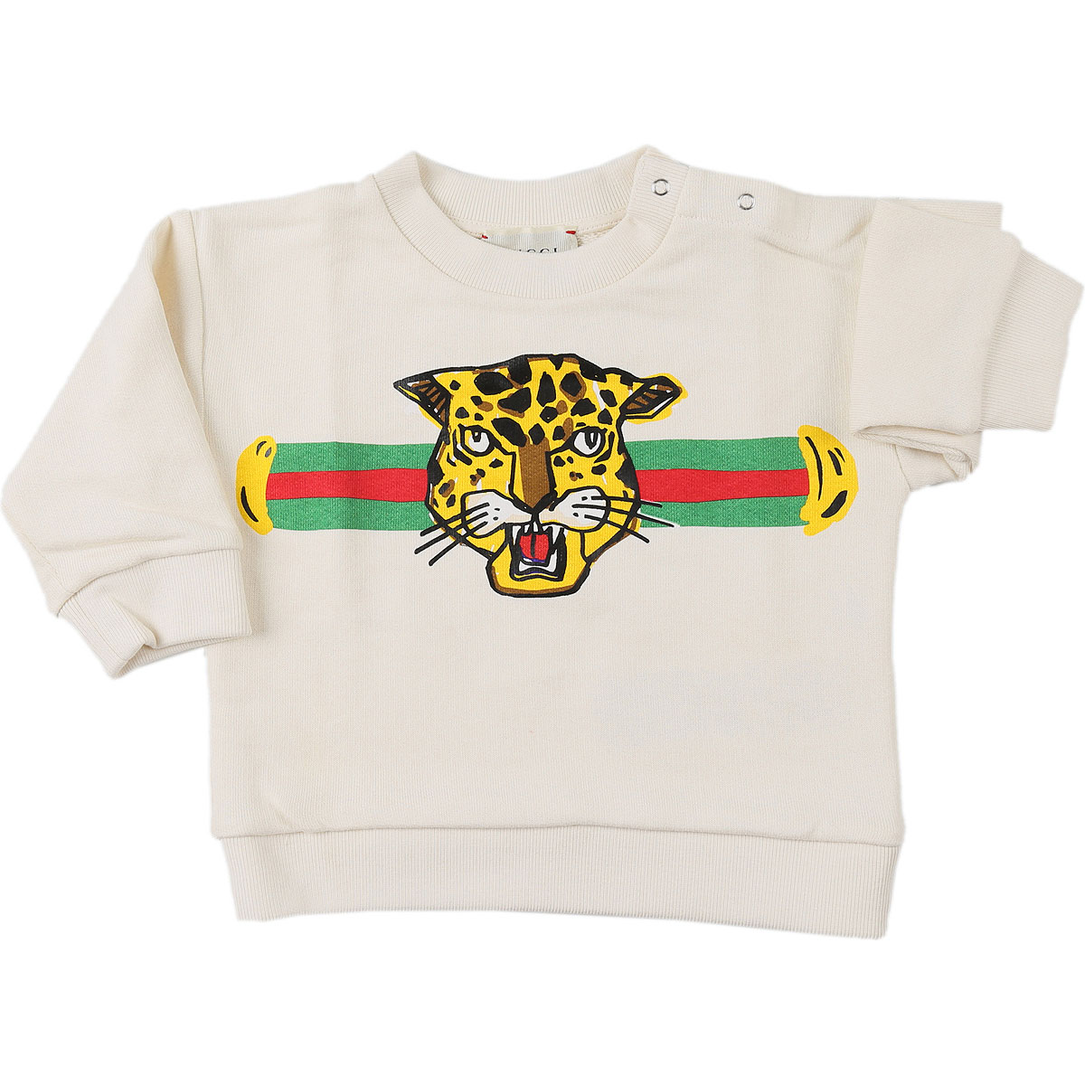 Gucci Baby Sweatshirts & Hoodies for Boys On Sale, White, Cotton, 2019, 3M 3Y