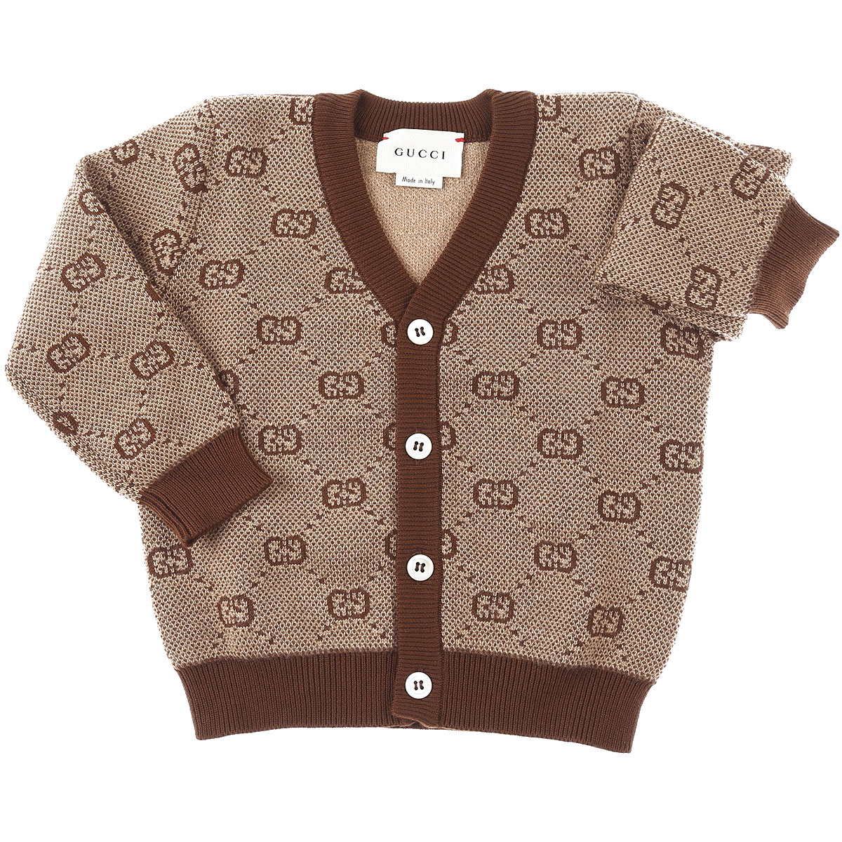 Gucci Baby Sweaters for Boys On Sale, Camel, Wool, 2019, 6M 9M
