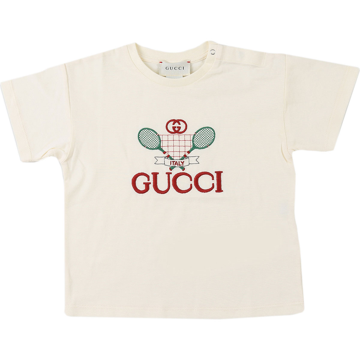 Gucci Baby T-Shirt for Boys On Sale, Cream, Cotton, 2019, 12 M 6M 9M