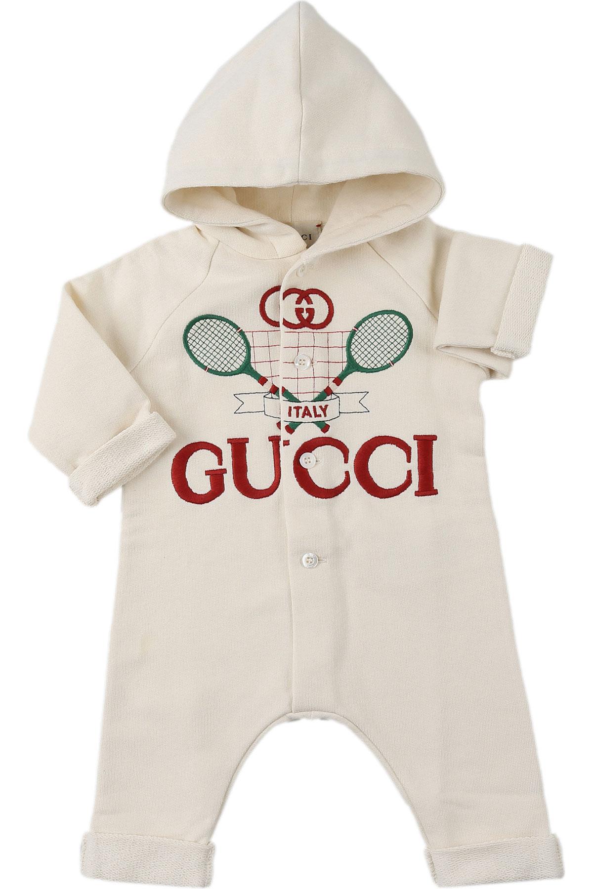 Gucci Baby Bodysuits & Onesies for Boys On Sale, White, Cotton, 2019, 12 M 1M 3M 6M 6M 9M